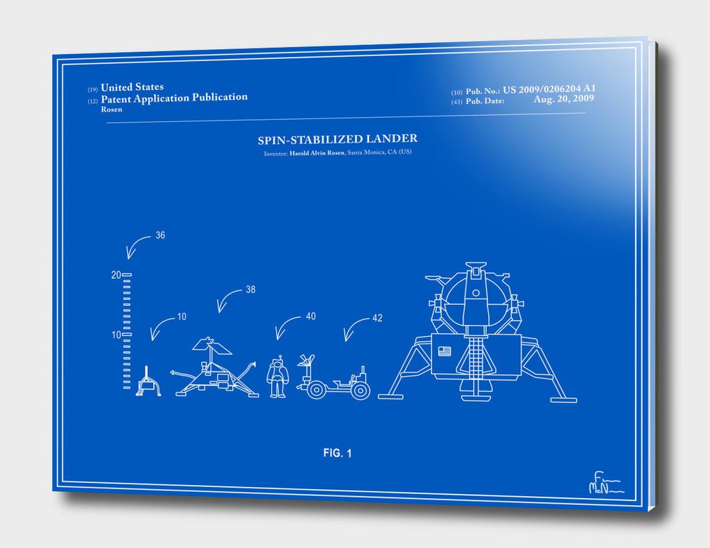 Space Lander Patent - Blueprint