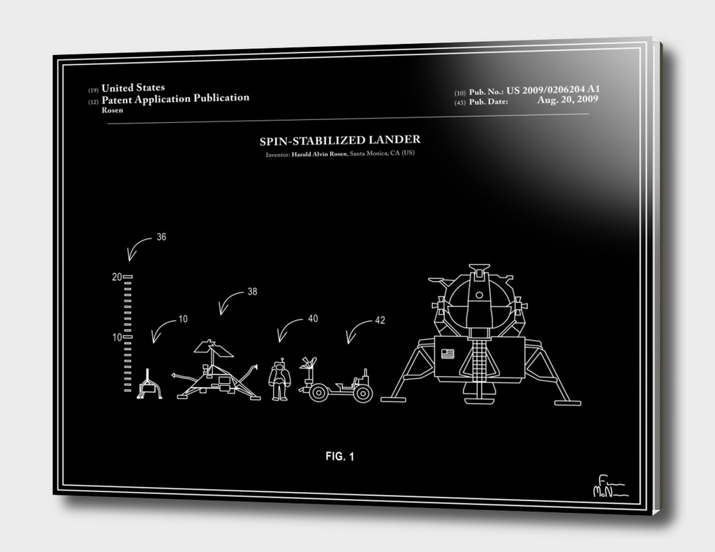 Space Lander Patent - Black