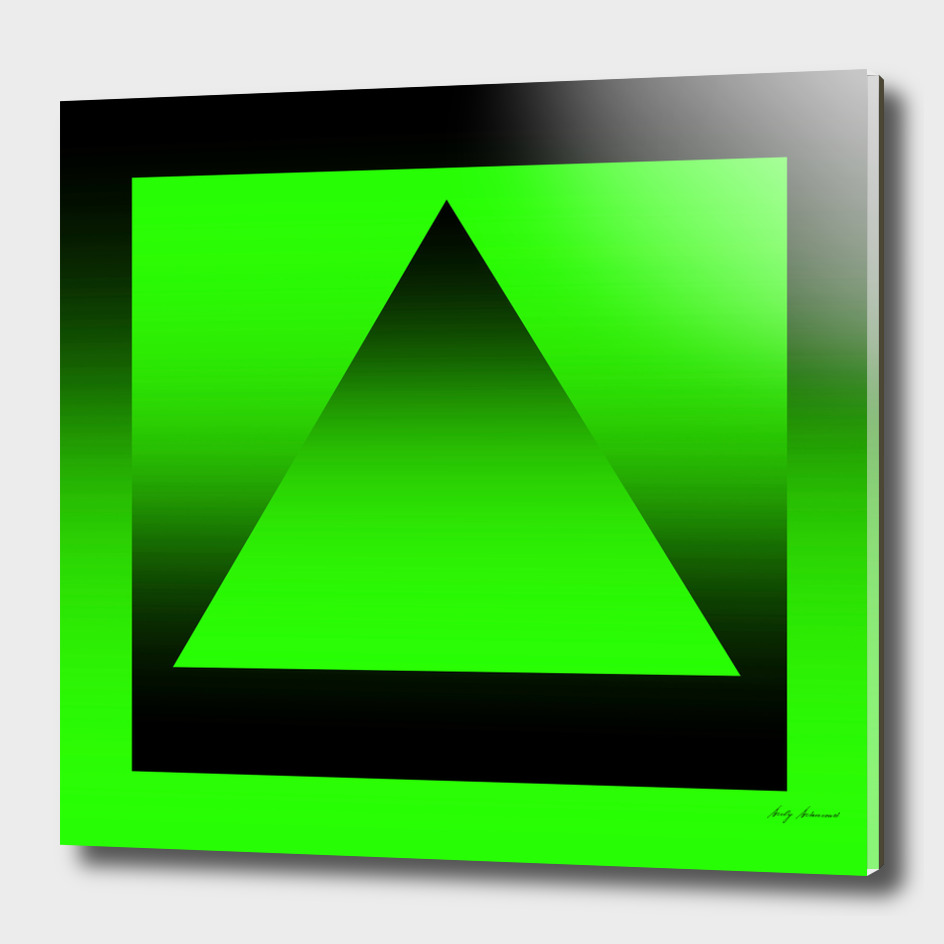 Triangle Green Gradient