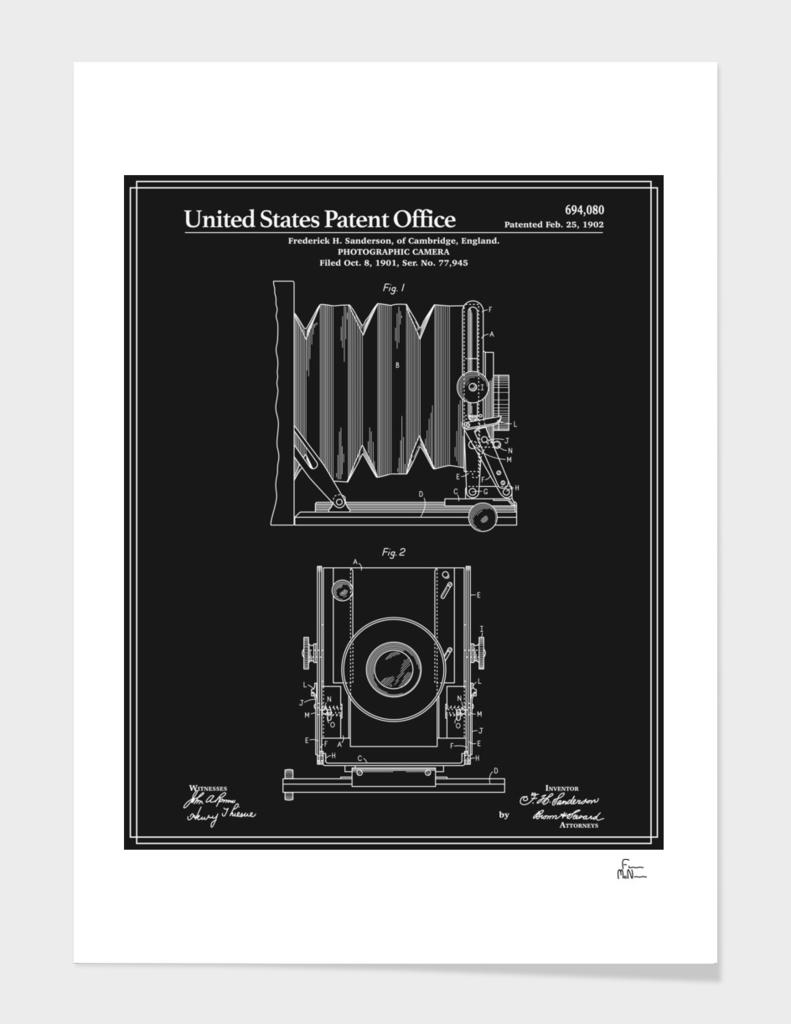 Camera Patent 1902 - Black