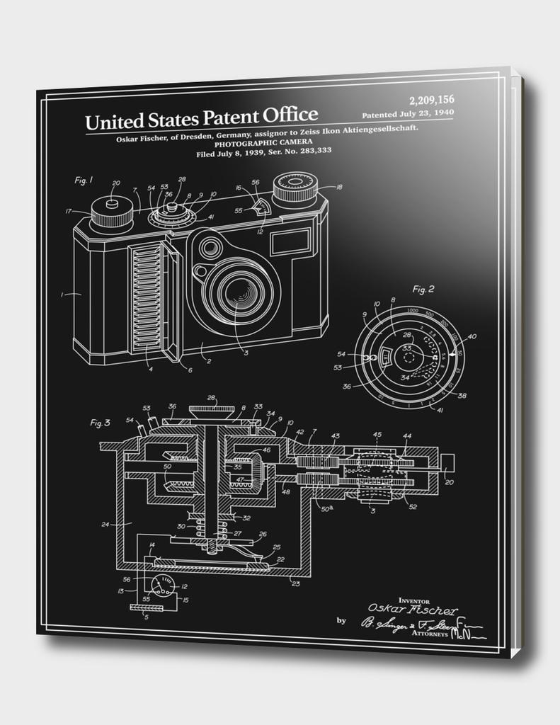 Camera Patent 1938 - Black