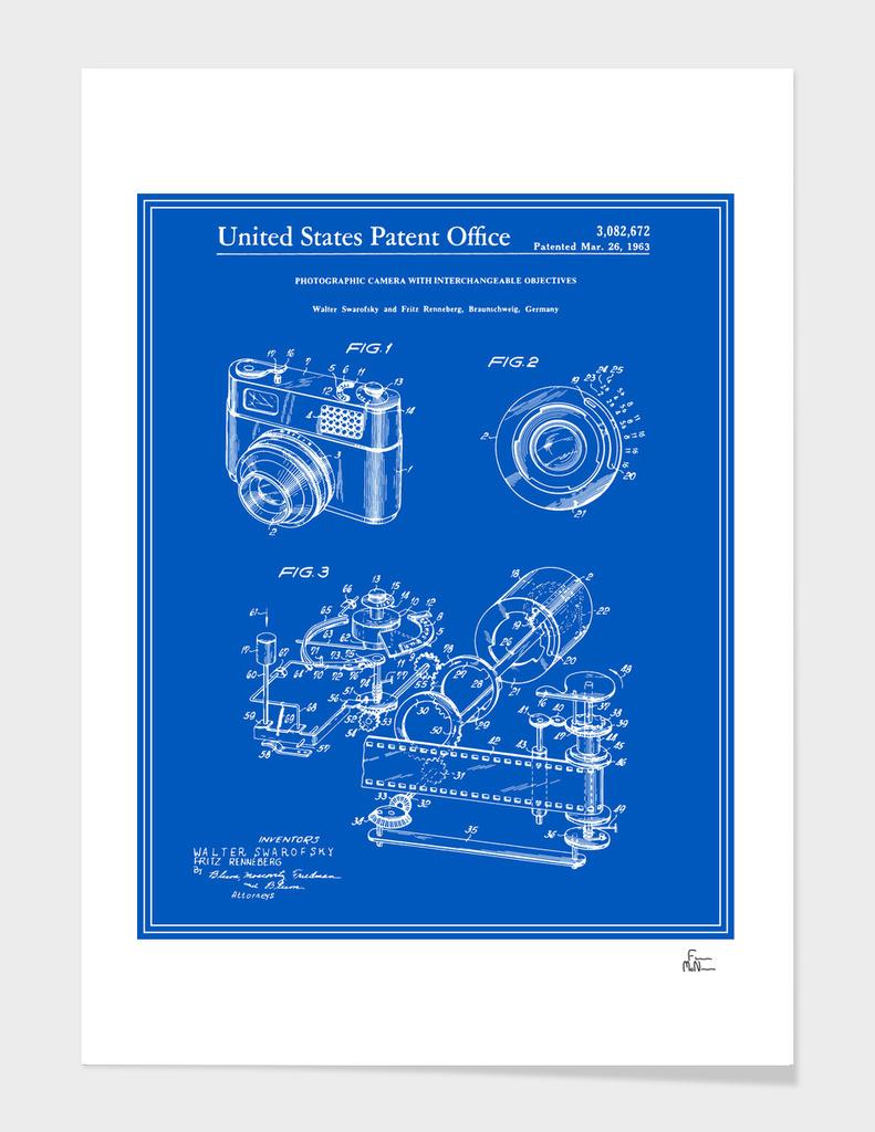 Camera Patent 1963 - Blueprint