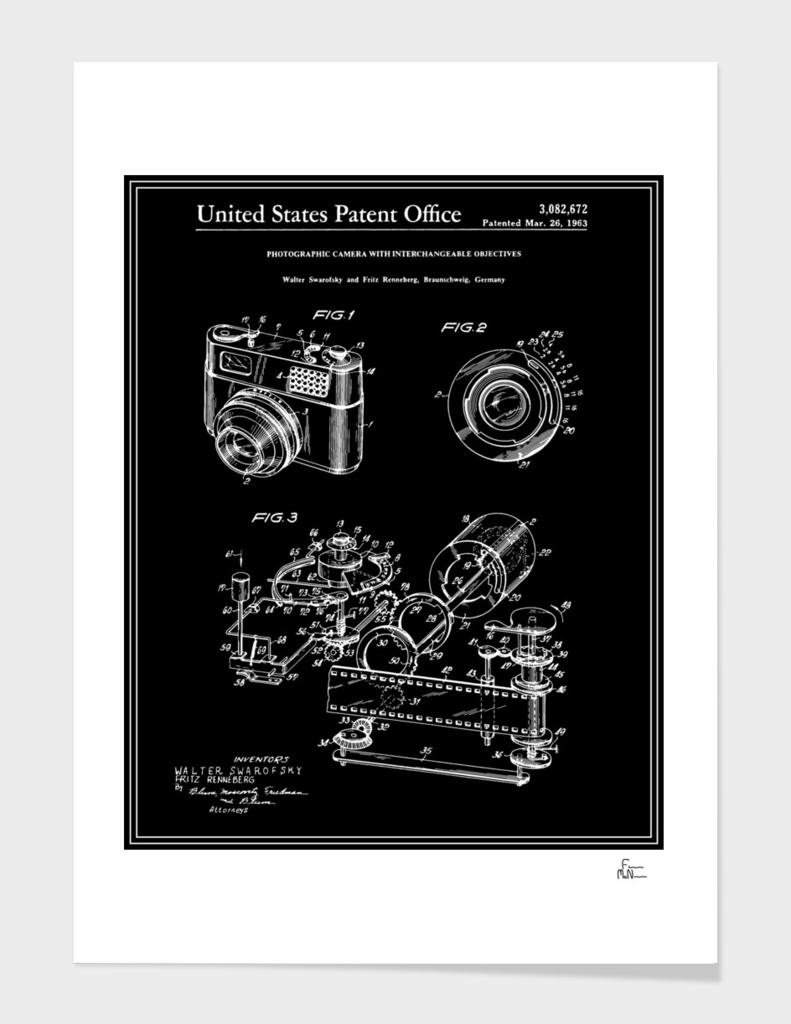 Camera Patent 1963 - Black
