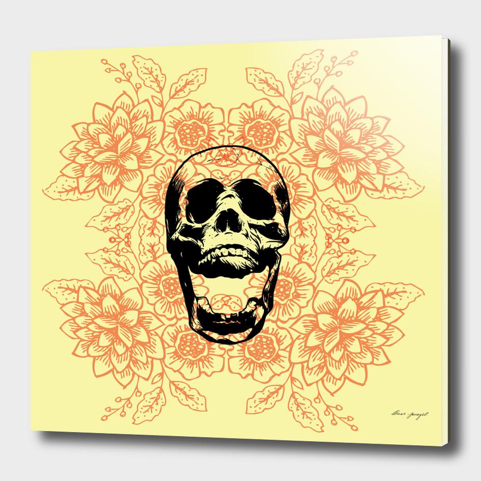 Skull Floral Pattern