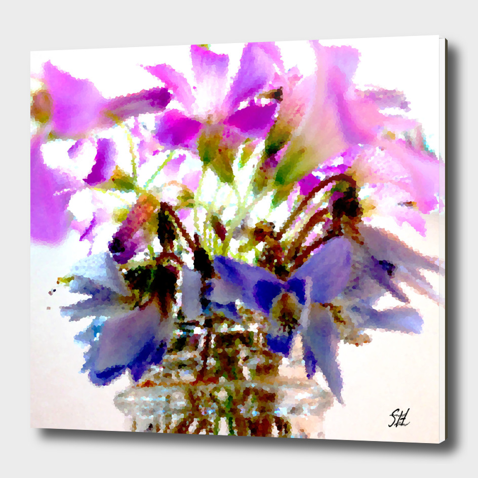 Purple Wood Sorrel Flower Bouquet