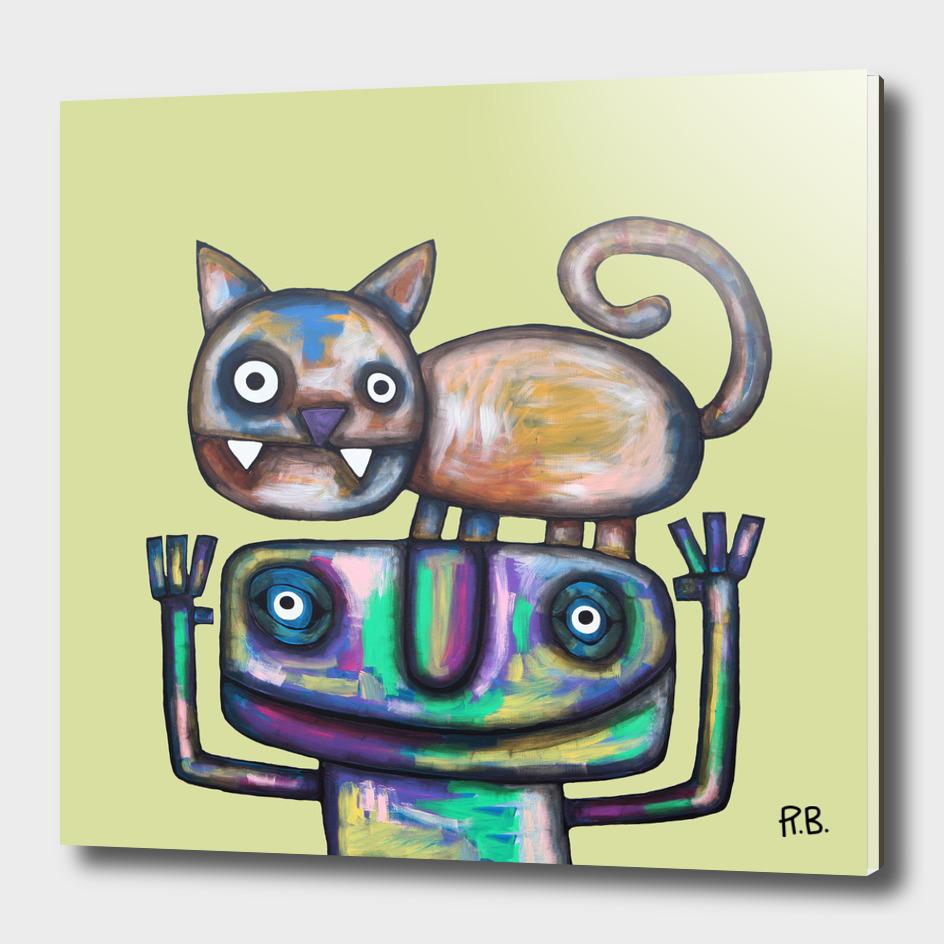 Juggler with Cat