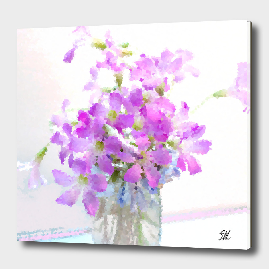 Purple Wood Sorrel Flower Bouquet II