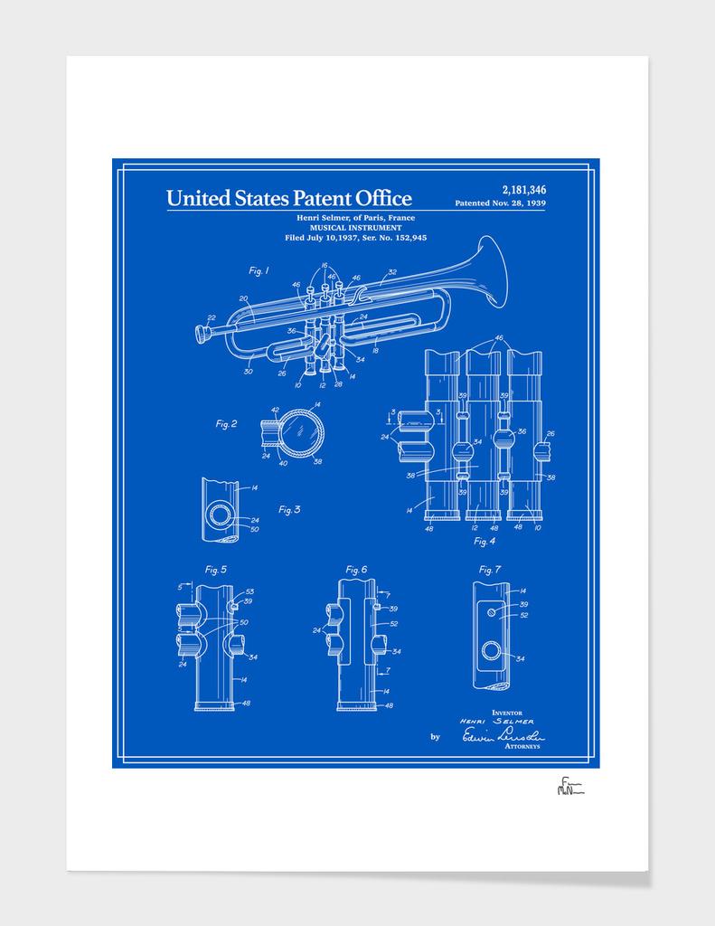 Trumpet Patent - Blueprint