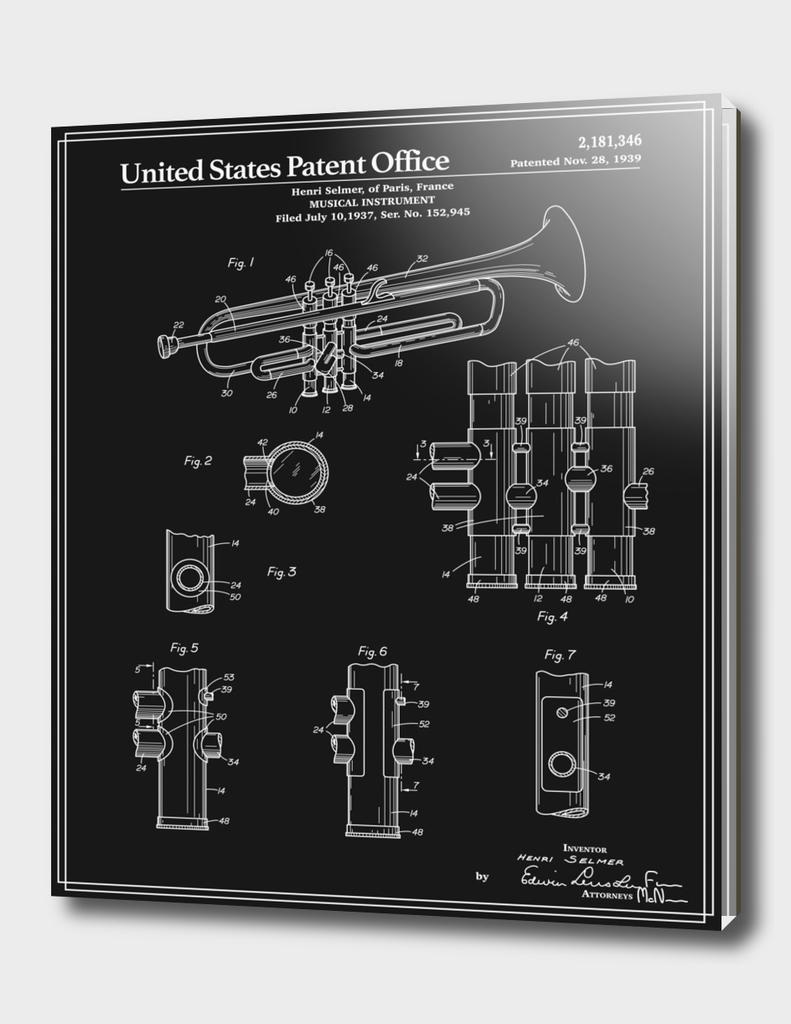 Trumpet Patent - Black