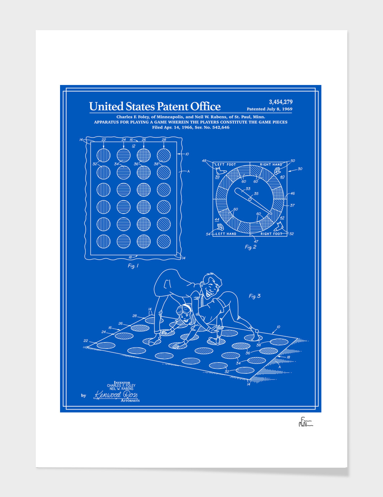 Vintage Game Patent - Blueprint