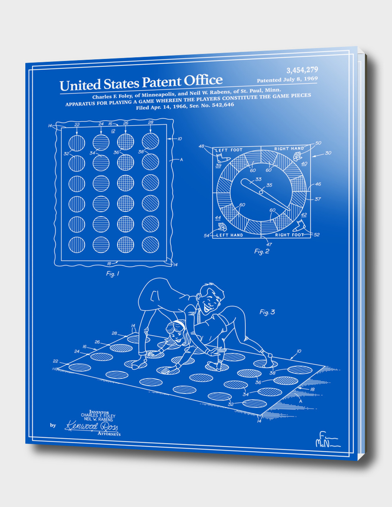 Vintage Game Patent - Blueprint