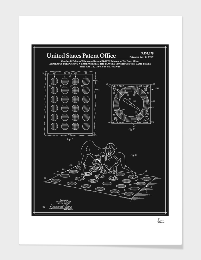 Vintage Game Patent - Black