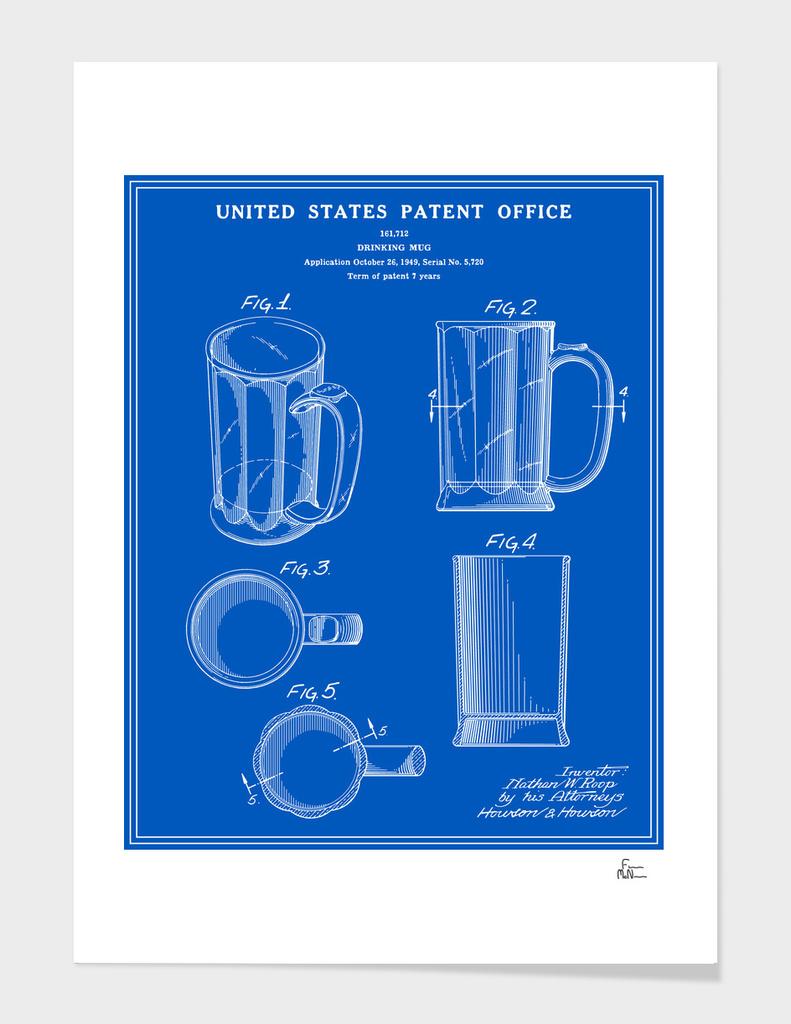 Beer Mug Patent - Blueprint