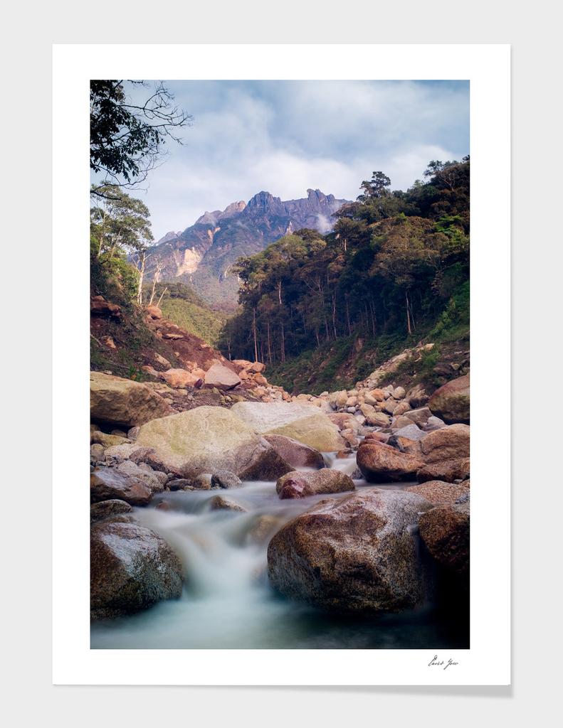 Mount Kinabalu's valley