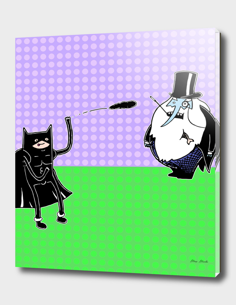 Bat-Finn vs. Penguin-Ice King