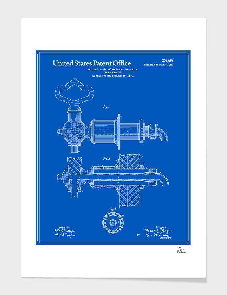 Beer Faucet Patent - Blueprint
