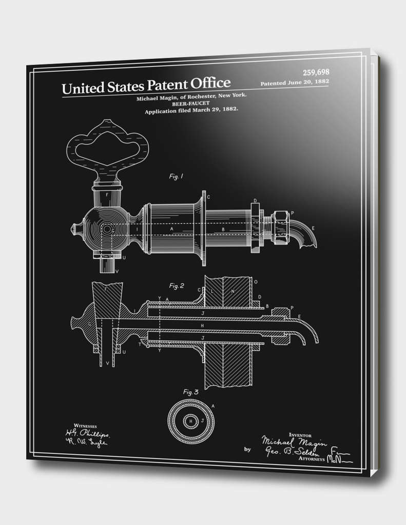 Beer Faucet Patent - Black
