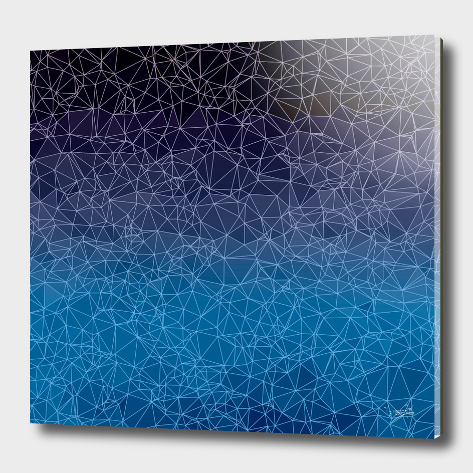 Polygonal blue, black and purple