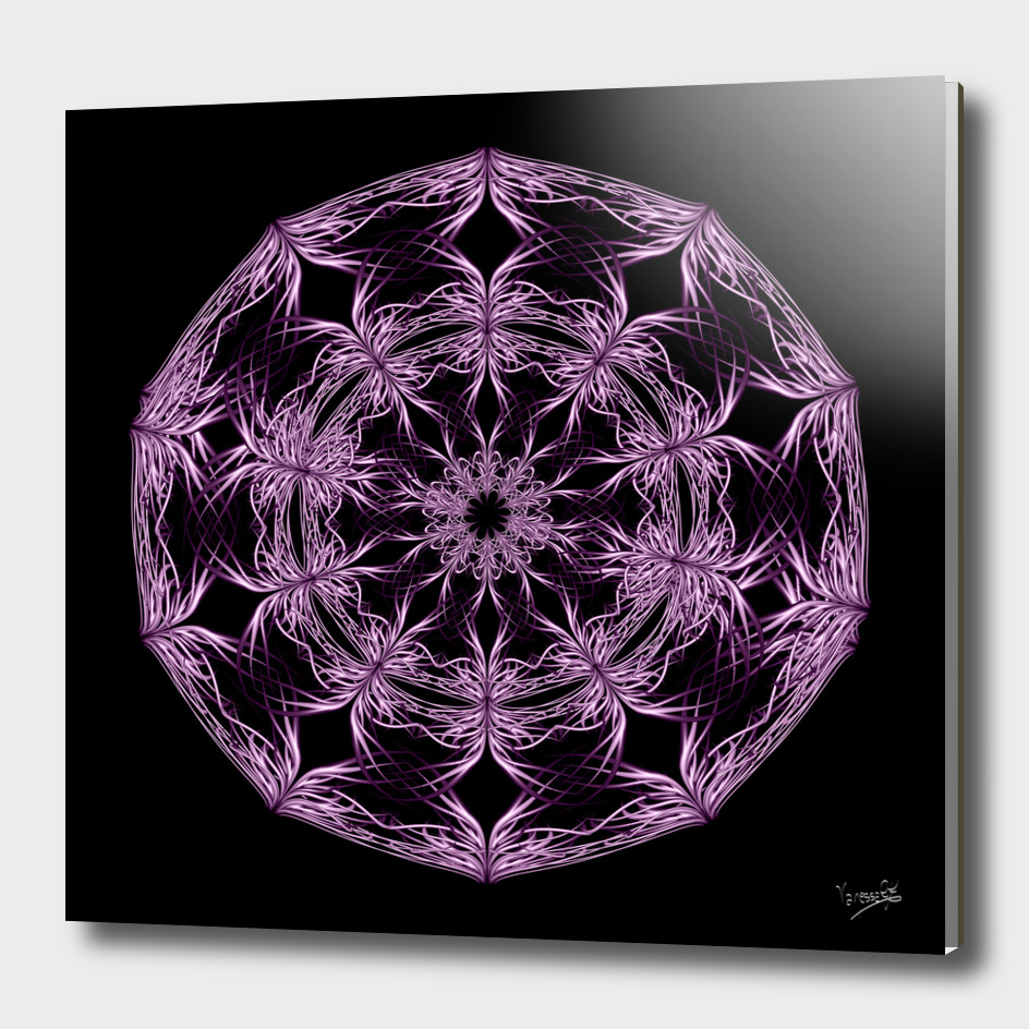 Mandala purple and black