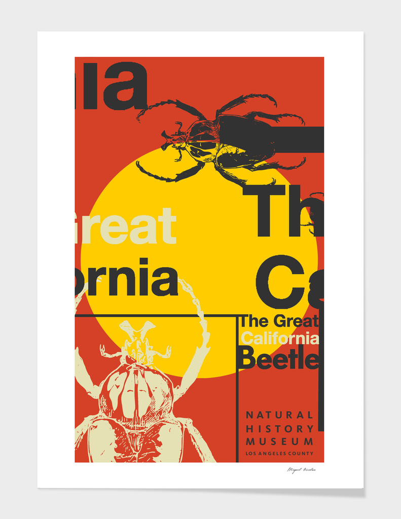 The Great California Beetle Poster