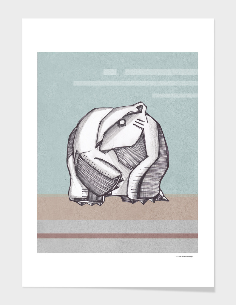 Abstract polar bear illustration