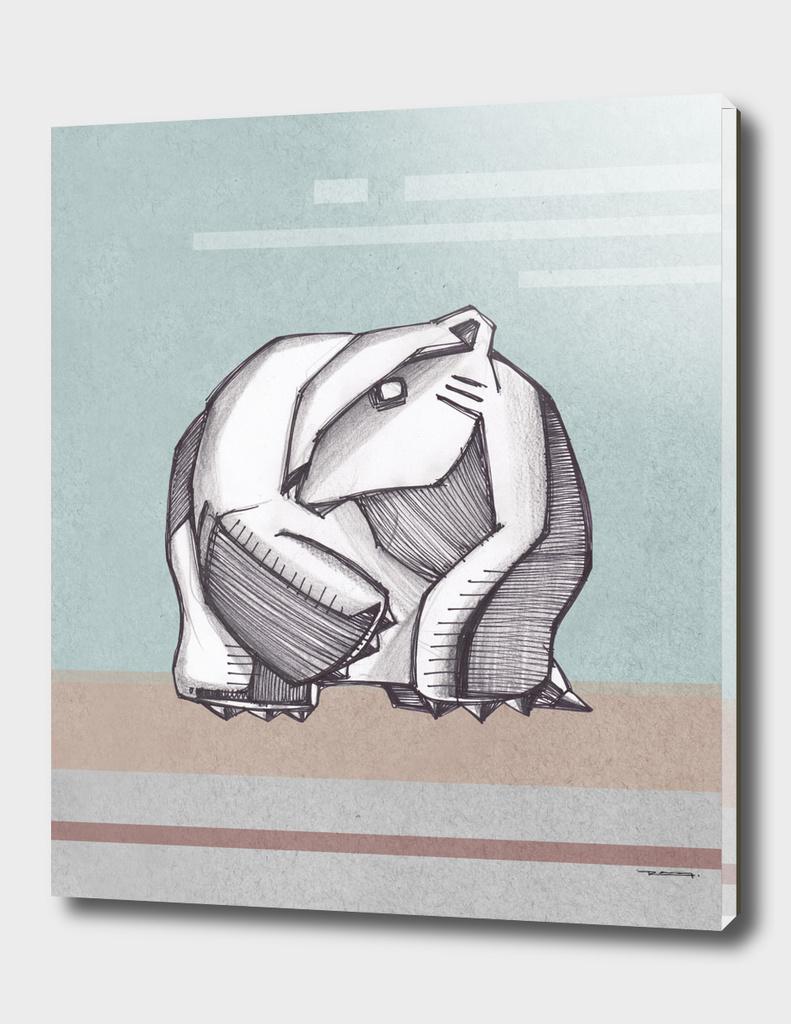 Abstract polar bear illustration
