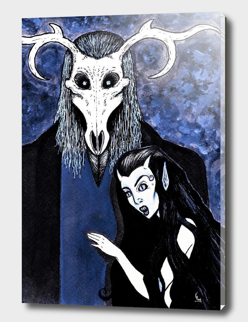 Cernunnos and Blodeuwedd  - The Horned God and Goddess