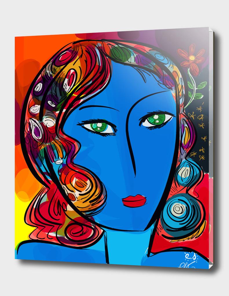 Pop Blue girl
