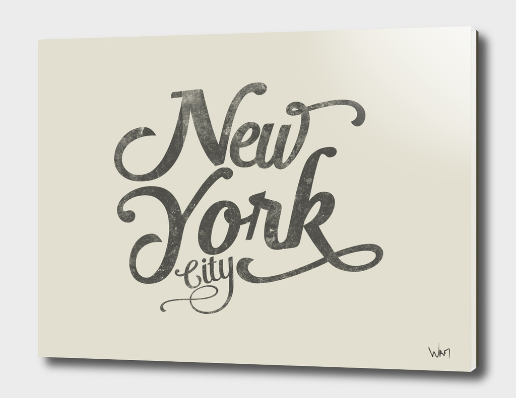New York City typography beige