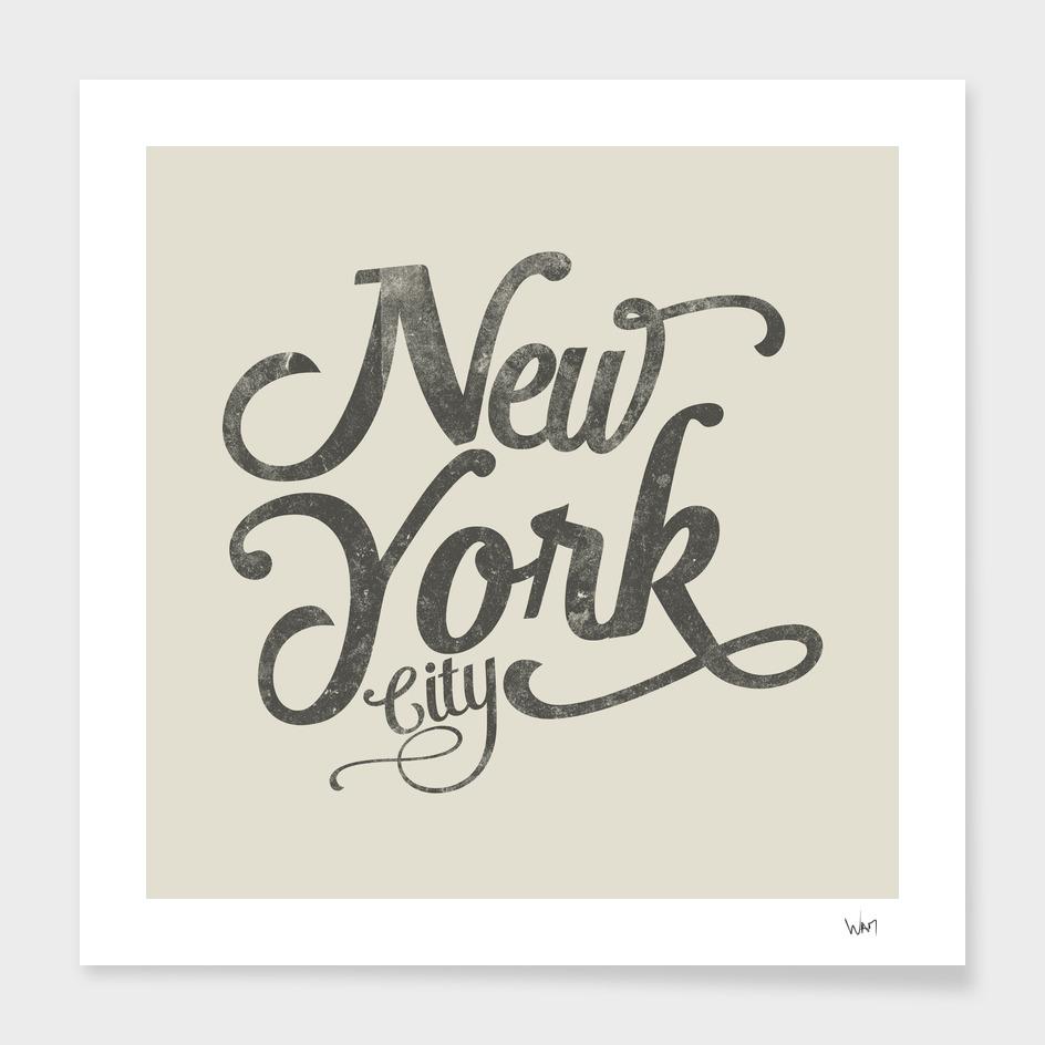 New York City typography beige