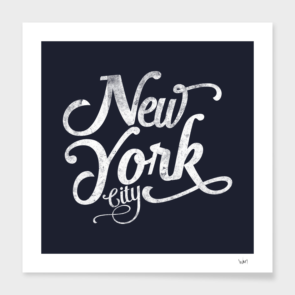 New York City typography navy