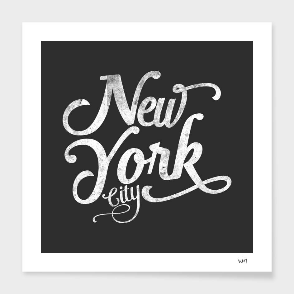 New York City typography dark grey
