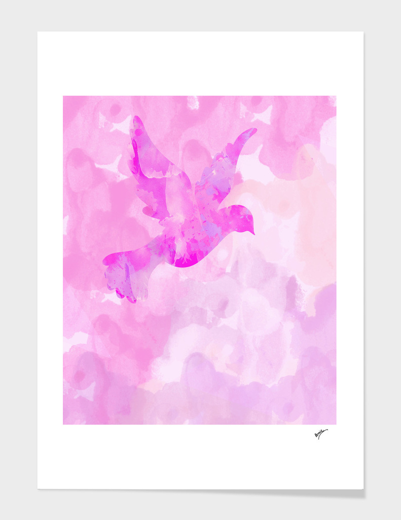 Abstract Flying Dove