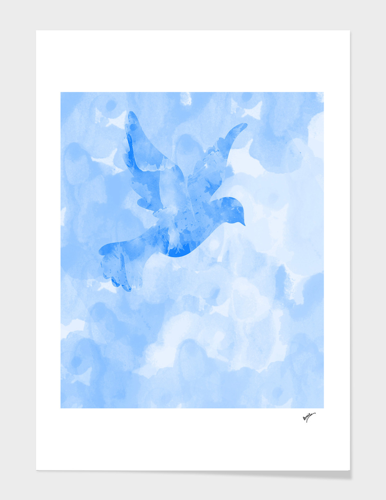 Abstract Flying Dove III