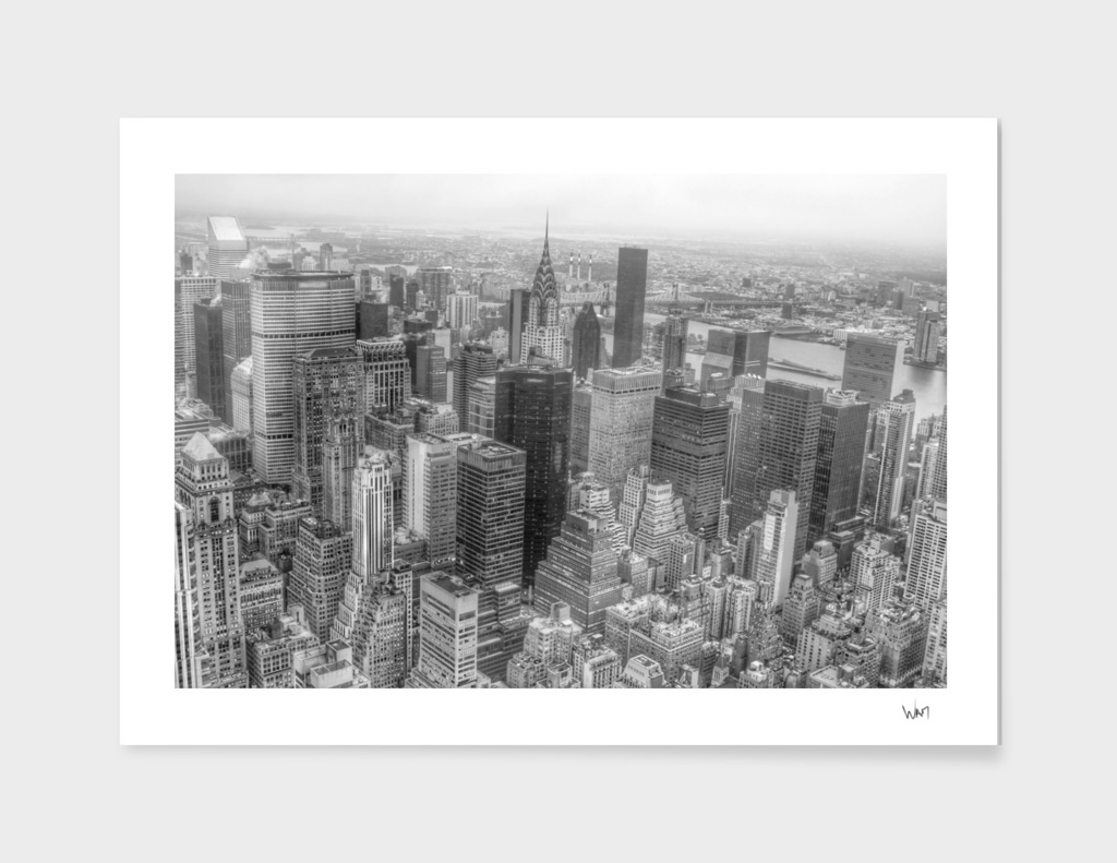 New York Manhattan black and white