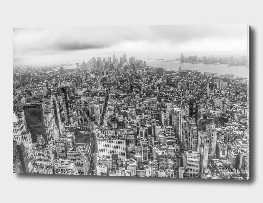 New York Manhattan black and white