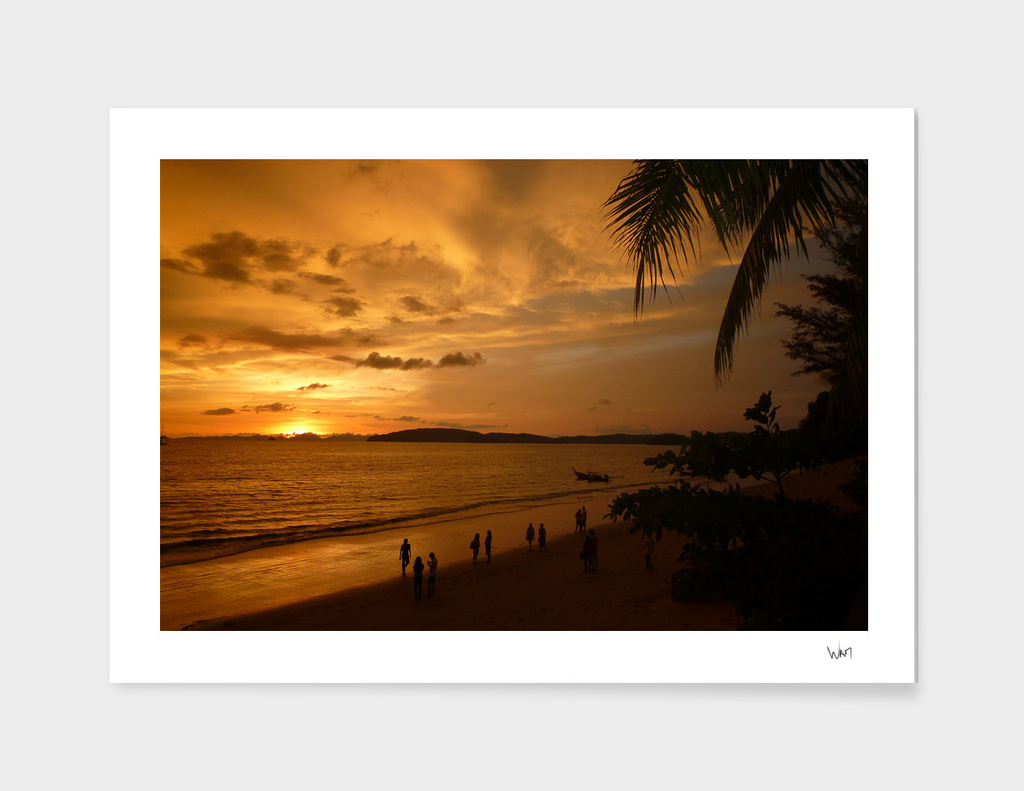 Thailand's beach sunset
