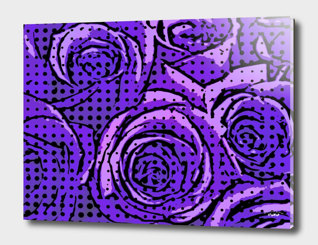 pop art roses (Purple)