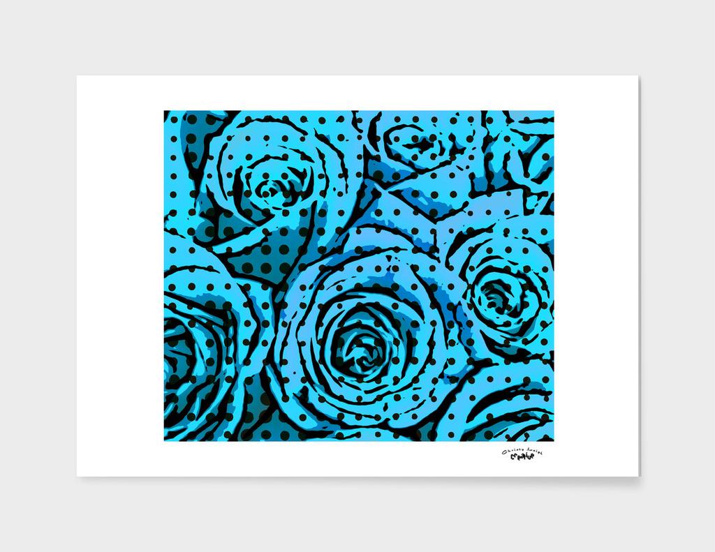 pop art roses (blue)