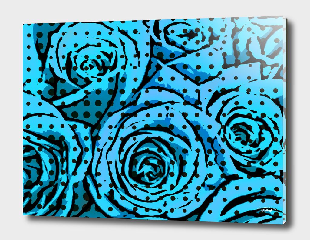 pop art roses (blue)
