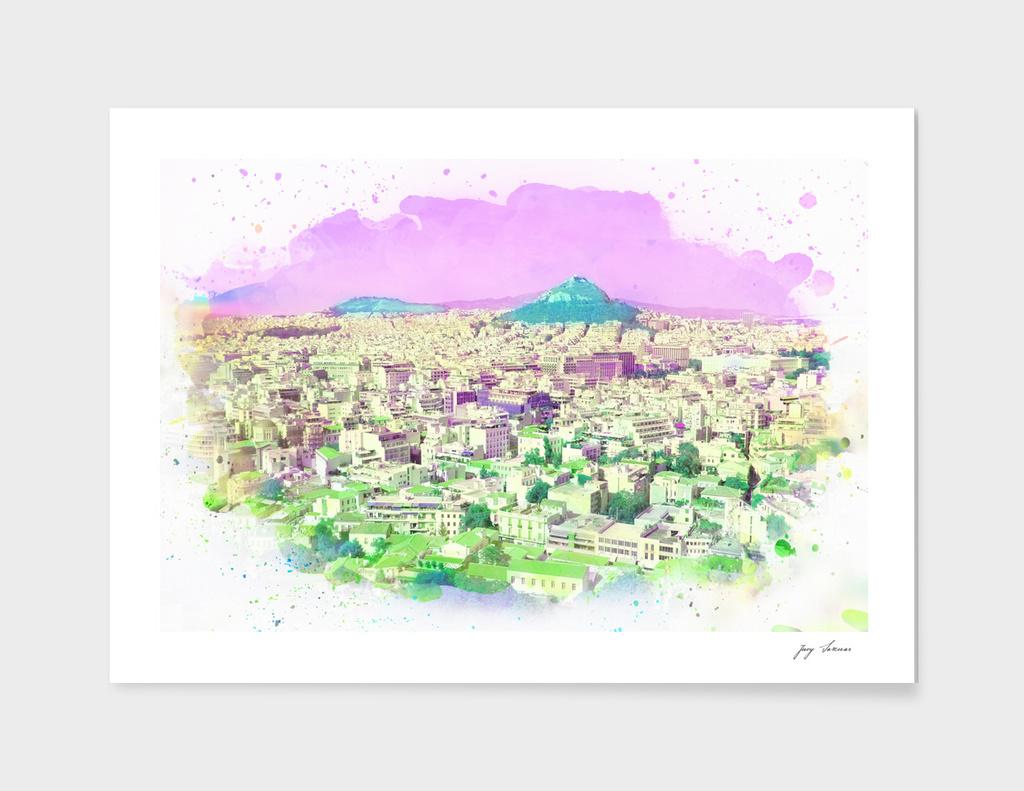 Athen's Purple Sky