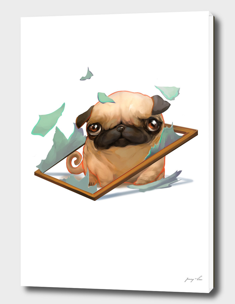 clumsy pug