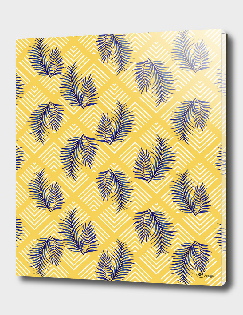 Geometries & Blue Palms