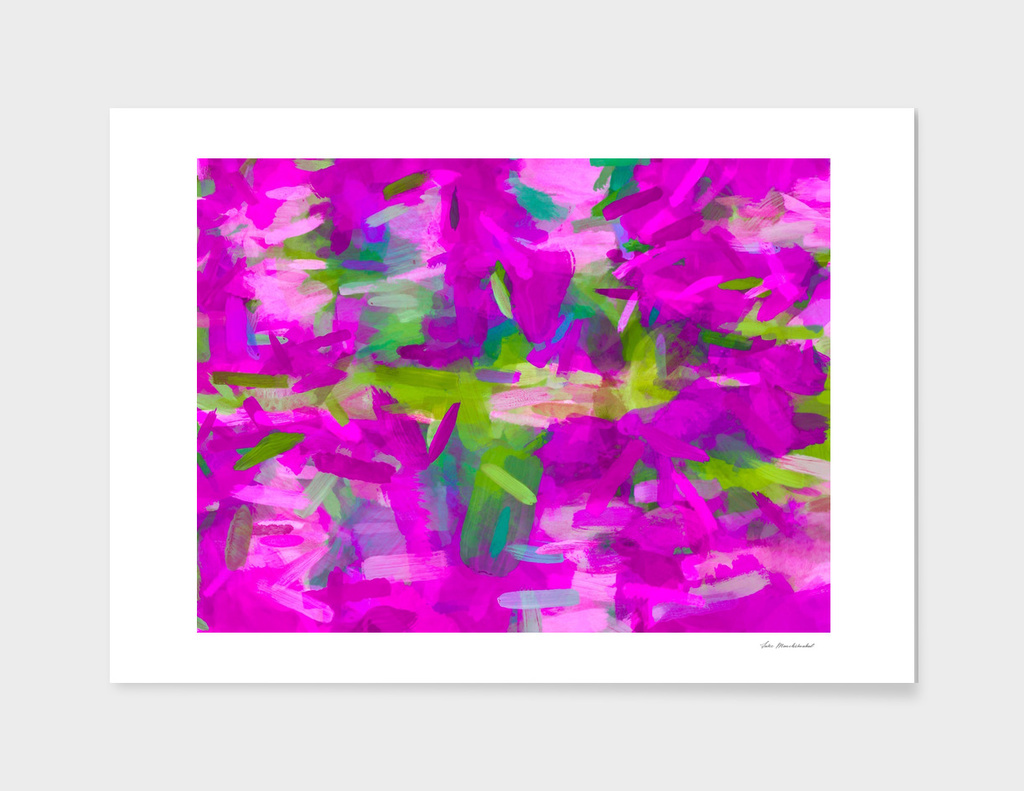 splash painting abstract texture in purple pink green