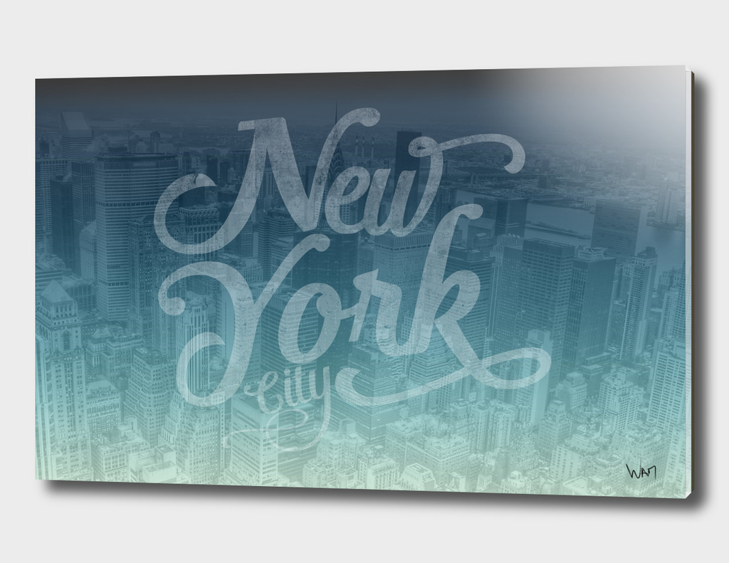 New York City typography blue edition