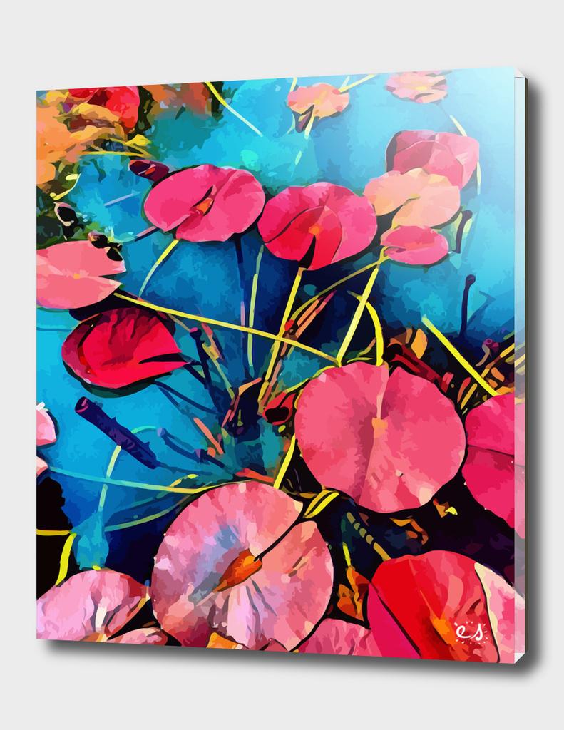 Water Flowers Pop