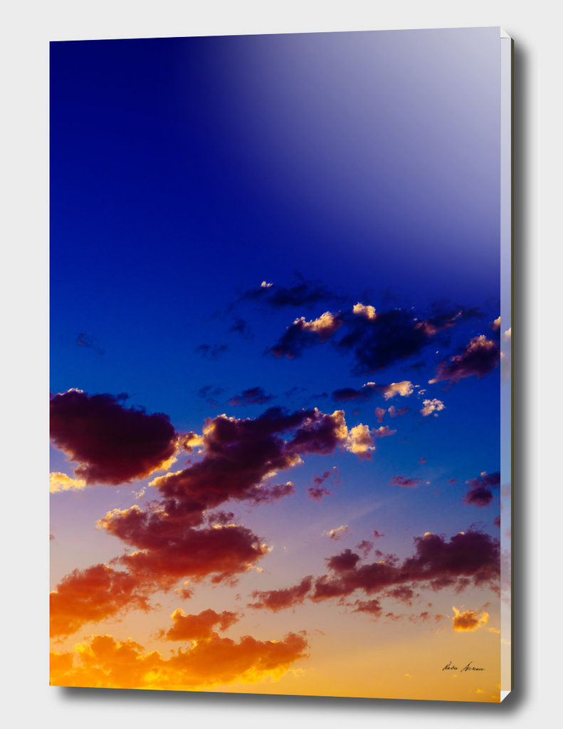 Beautiful Blue And Orange Tranquil Summer Sunset