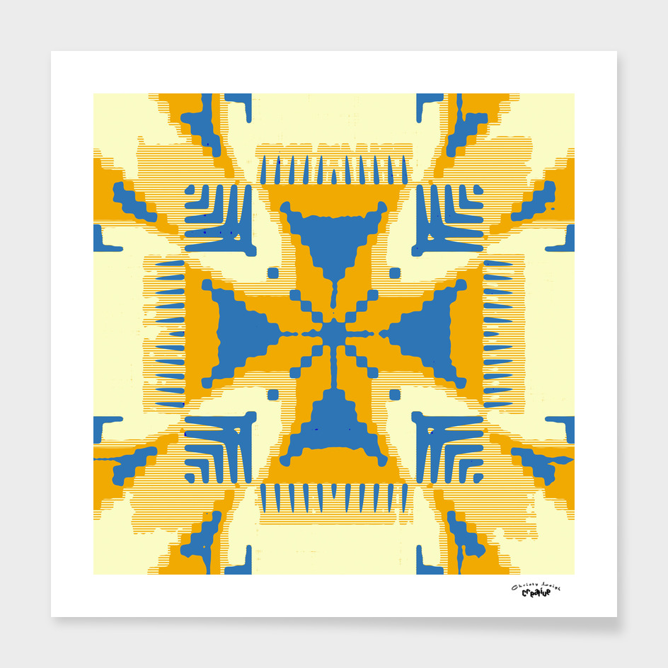 Blue and Yellow cross