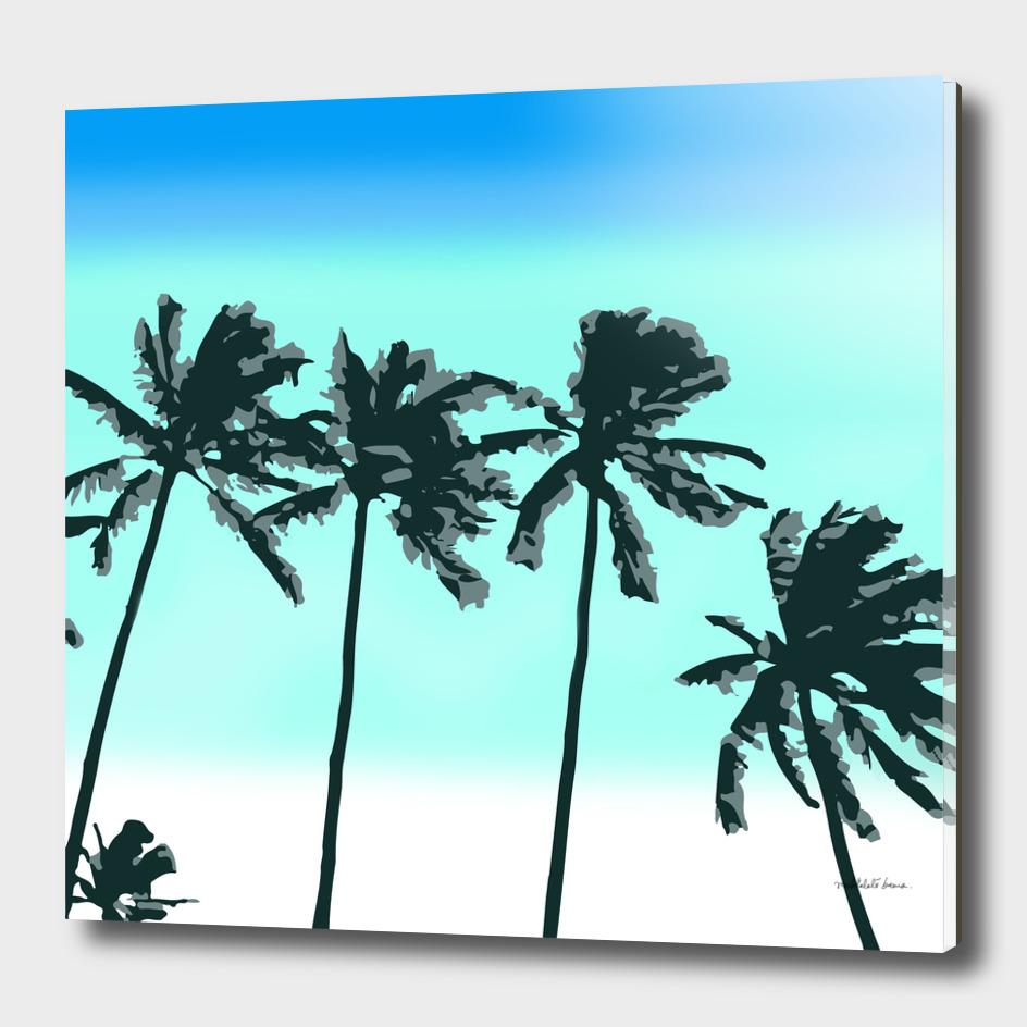 Palm Trees ( Blue )
