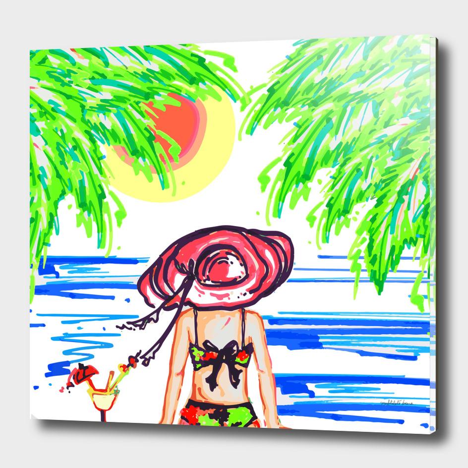 summer vibes illustration